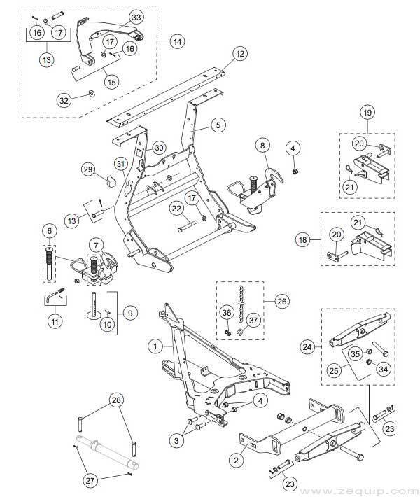 Western MVP Plus Lift Parts Diagram