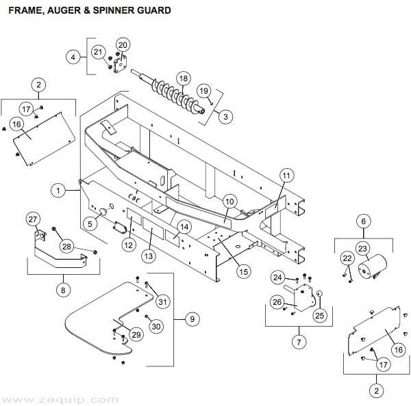 Pro Flo 900 Auger And Frame Parts Diagram