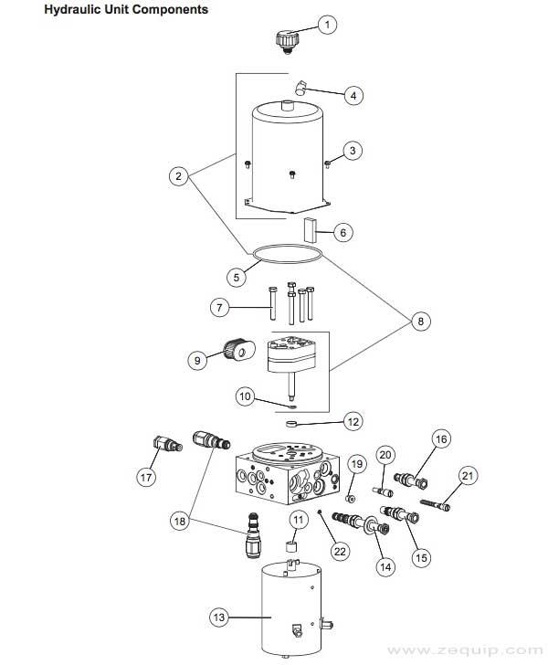 Western Prodigy Hydraulic Parts Diagram