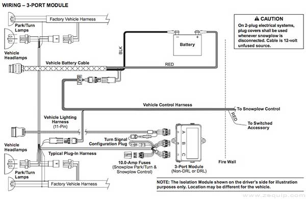 Western Plow Wiring Diagram Legend on