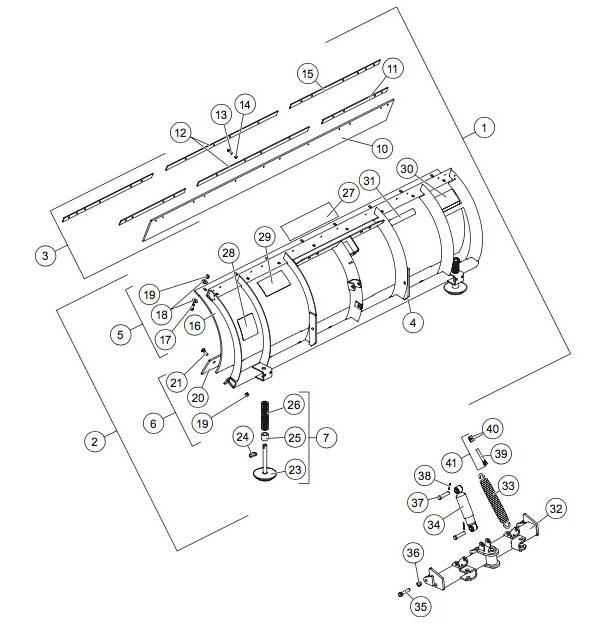 Western Pro-Plow Blade Diagram