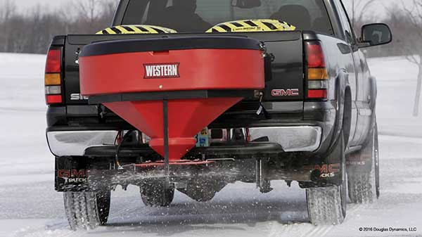 Western Low Profile Salt Spreaders