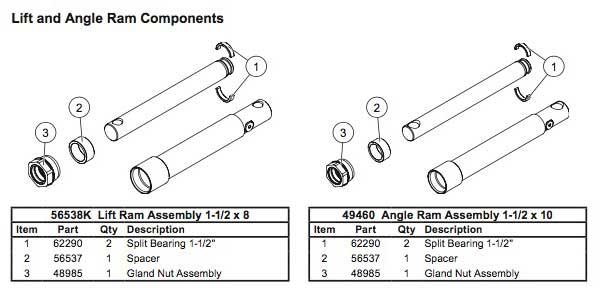 Western Wide-Out Hydraulic Cylinder Diagram